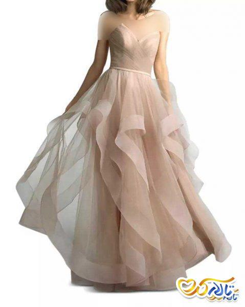 لباس نامزدی پفی صورتی