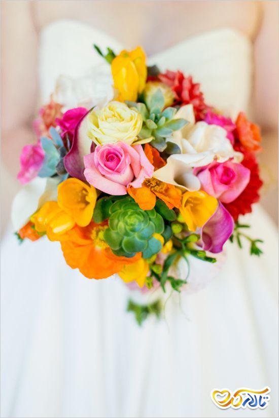 دسته گل رنگارنگ