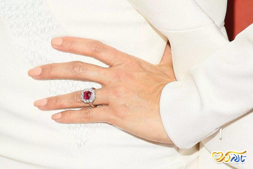 حلقه عروسی یاقوت