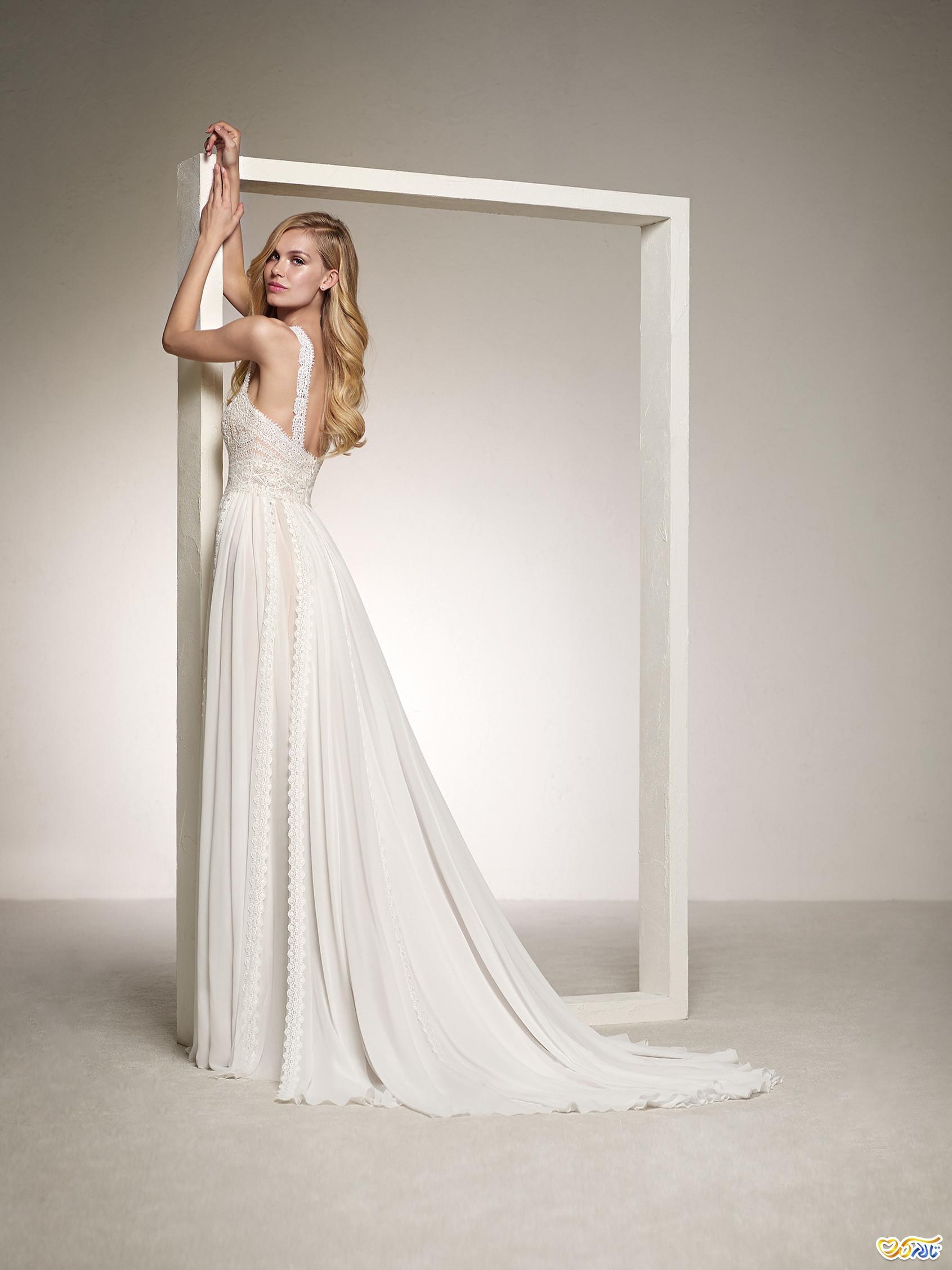لباس عروس توری ساده