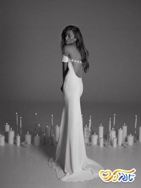 لباس عروسی بدون شانه