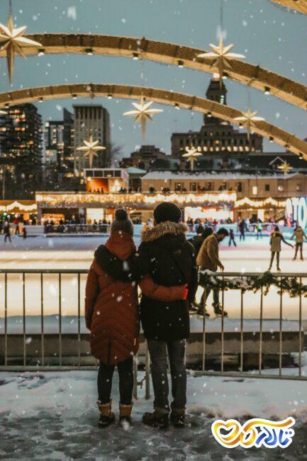 عکاسی دوران نامزدی و عقد در زمستان