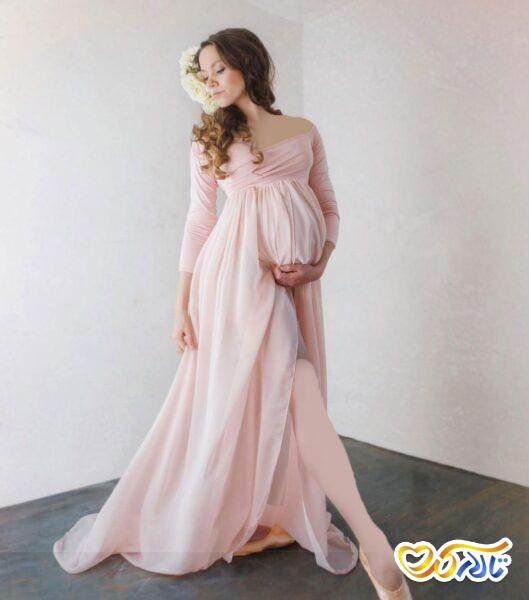 لباس بارداری مجلسی حریر