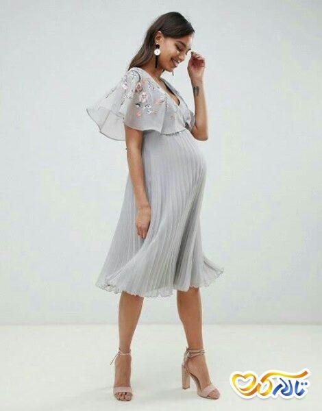 لباس مجلسی حاملگی کوتاه