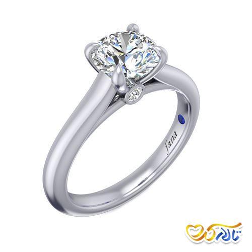 حلقه عروسی جواهر ساده