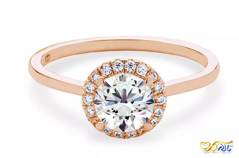 حلقه نامزدی تک تخمک جواهر خورشید