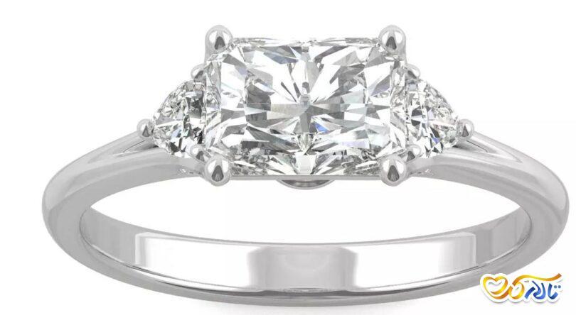 حلقه جواهر نامزدی زیبا