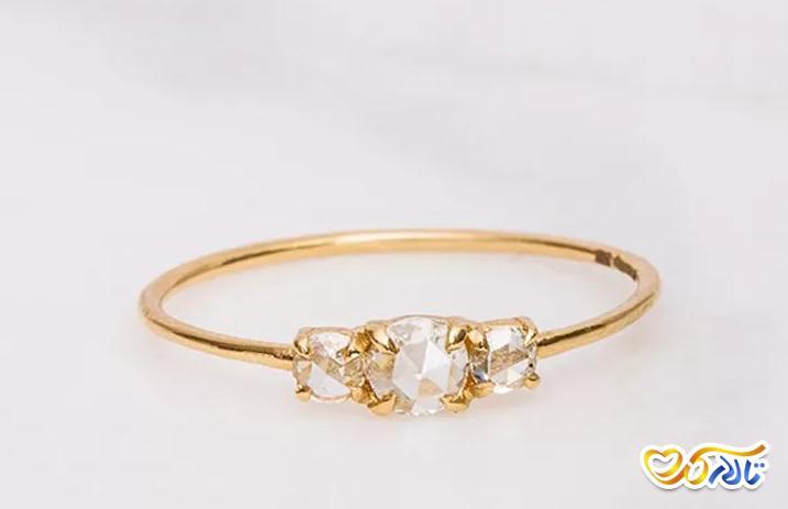 حلقه عروس ساده و زیبا