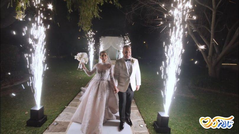 ورود عروس داماد تالار عروسی