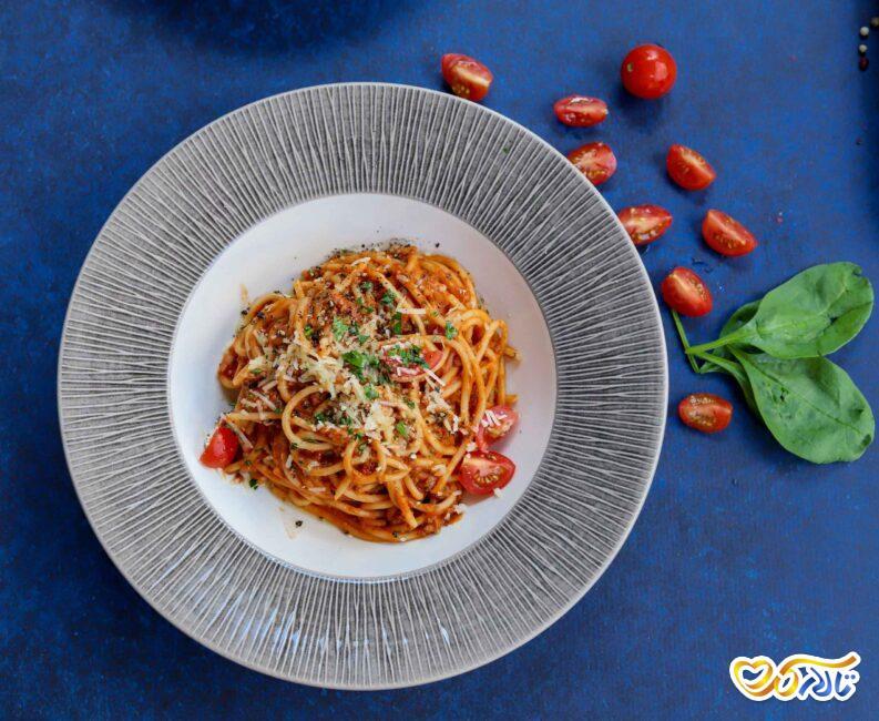 اسپاگتی غذای مخصوص تولد