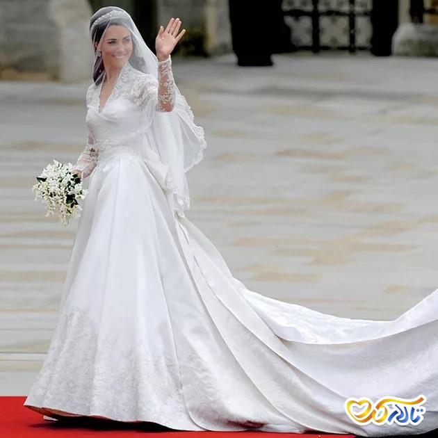 لباس عروس گران قیمت کیت میدلتون