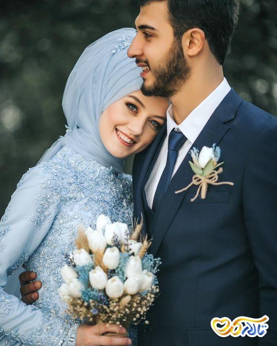 لباس عروس رنگی و لاکچری