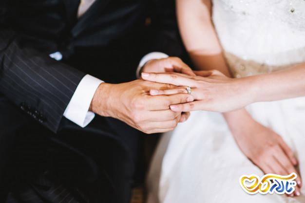 حلقه عروسی حلقه نامزدی