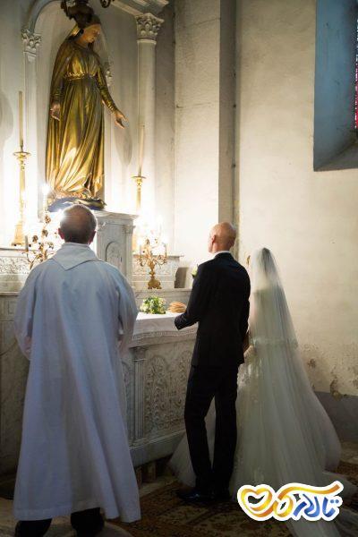 آداب و رسوم عروسی در فرانسه : مجسمه مریم مقدس