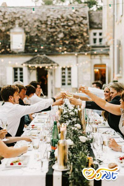 آداب و رسوم عروسی در فرانسه : غذای مراسم