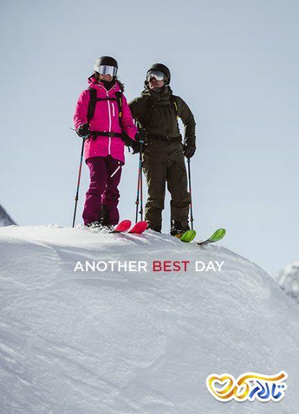 اسکی عاشقانه برف