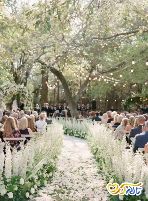 گل اسطوخودوس در تزئینات عروسی