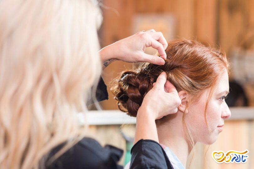 موی براق زیبا عروسی