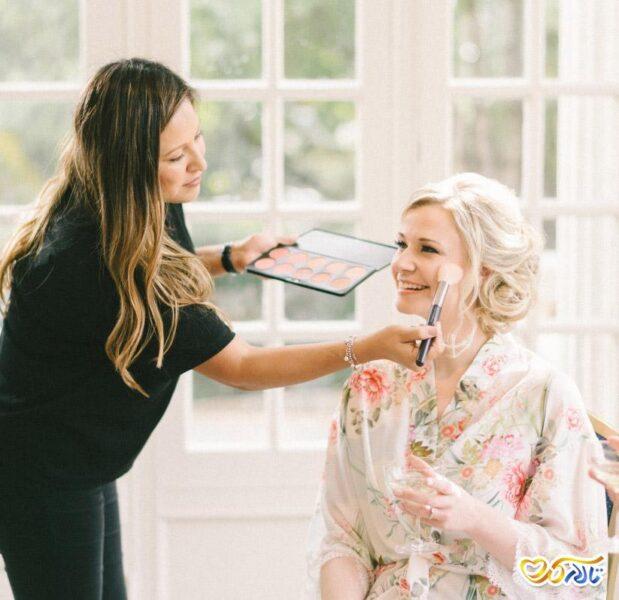 ترفندهای حفظ آرایش عروس در تابستان