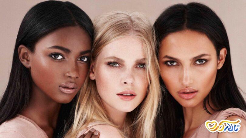 آموزش تشخیص رنگ و تناژ پوست