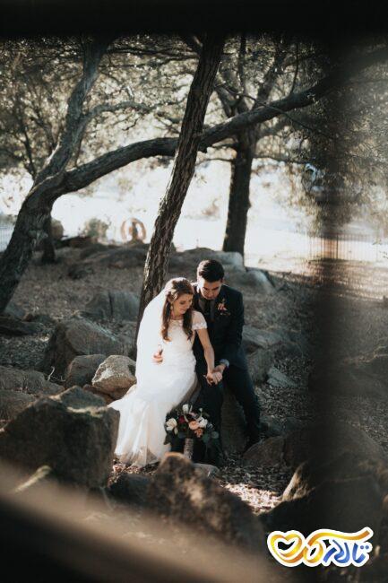 عروس و داماد و زوج های جوان و  چمدان عروسی