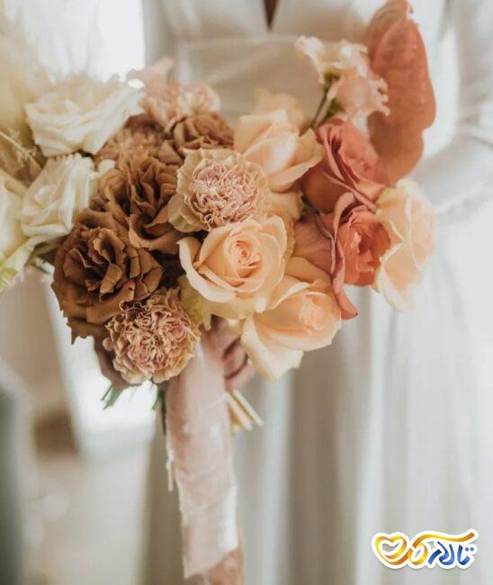 مفهوم گل های دسته گل عروس
