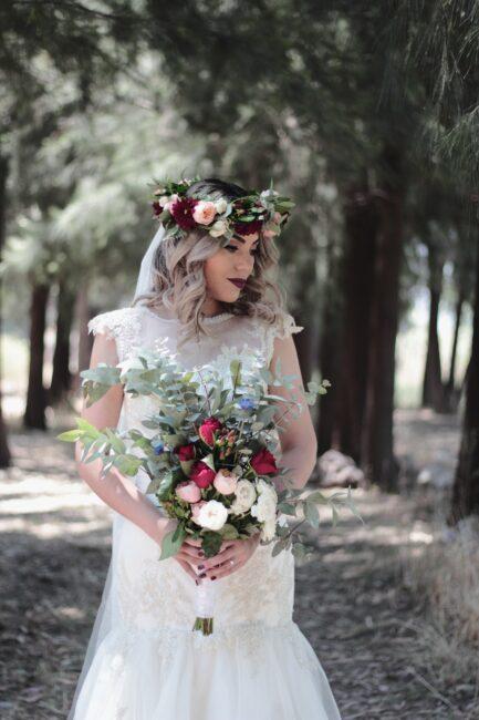تاج گل برای عروس تاج عروس