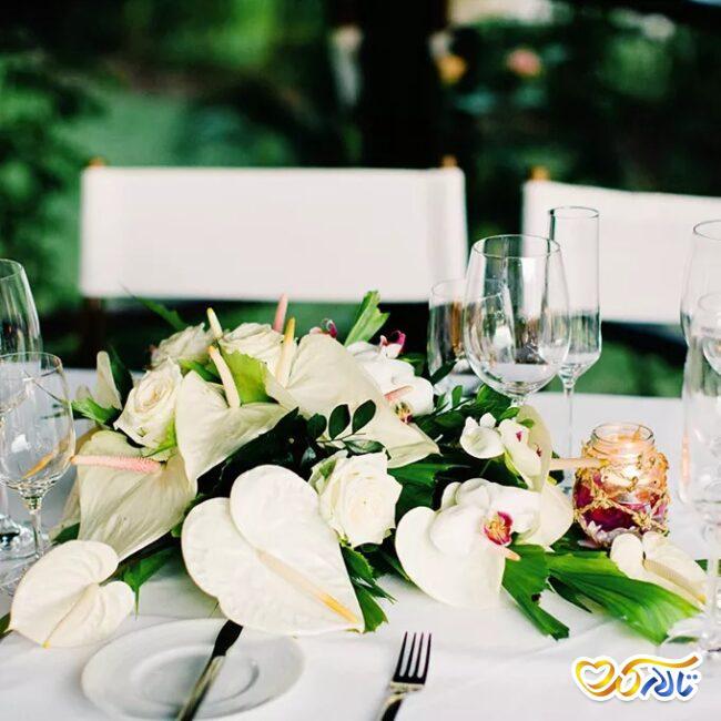 ایده گل شیپوری دسته گل عروس