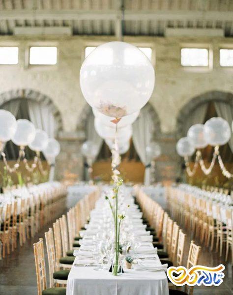 بادکنک آرایی عروسی