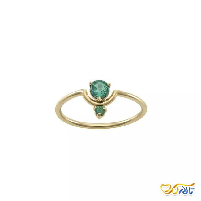 حلقه عروس طلا و زمرد
