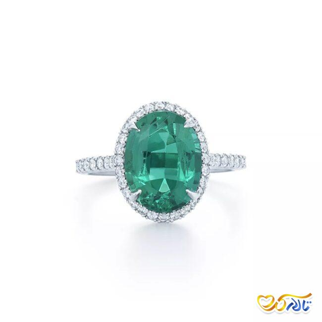 حلقه عروس زمرد و الماس
