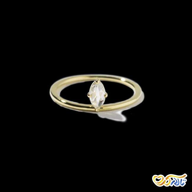 انگشتر نامزدی طلای زرد با نگین الماس