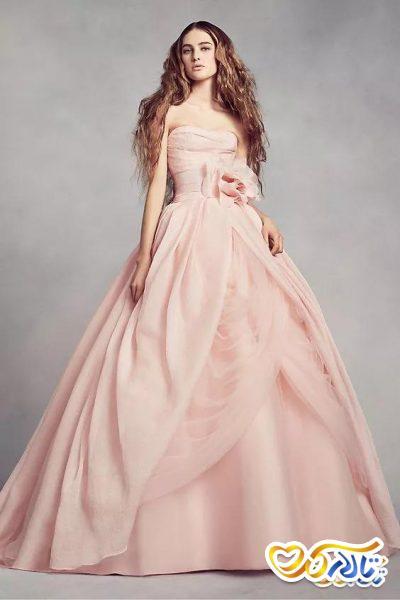 مدل لباس نامزدی رنگ صورتی
