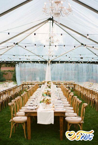ترکیب چند سبک در تزئین باغ عروسی