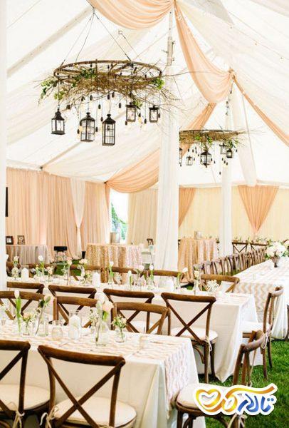 لوسترهای دستساز در باغ عروسی