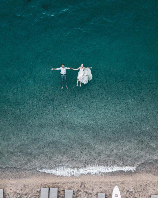 دریا برای عکس فرمالیته عروسی
