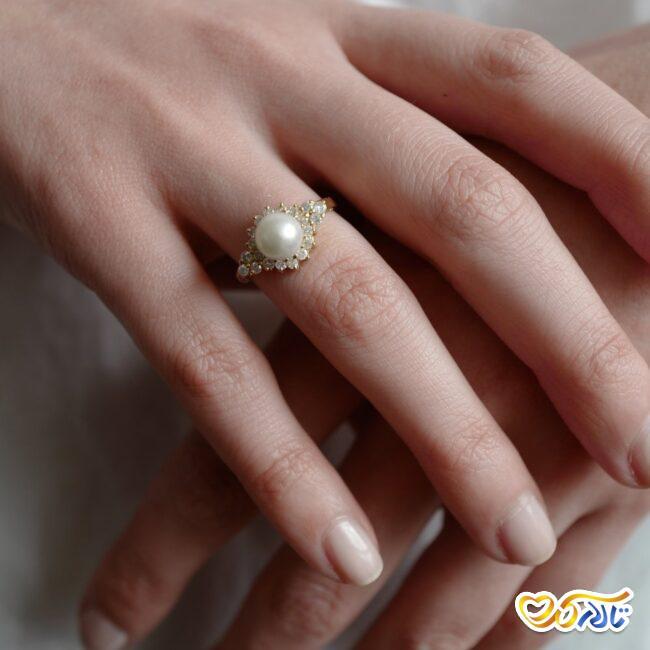 حلقه عروسی مروارید
