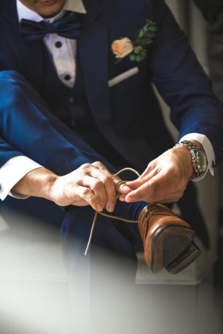 کفش و کت شلوار داماد برای عروسی