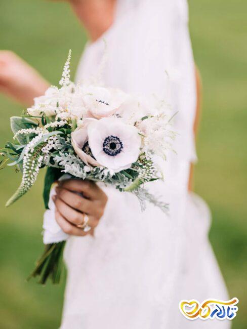 گل شقایق دسته گل عروسی