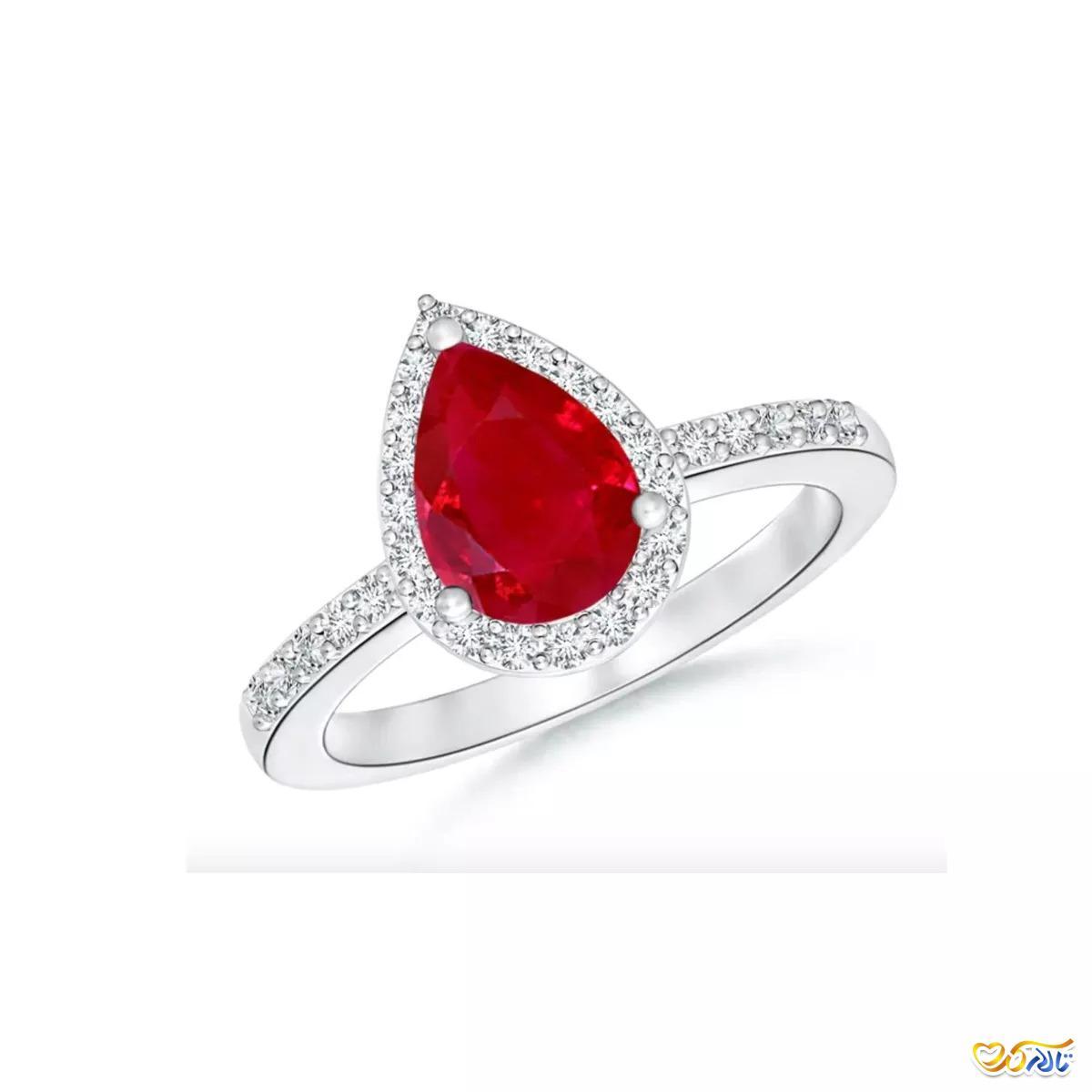 حلقه ی عروسی و انگشتر نامزدی یاقوت