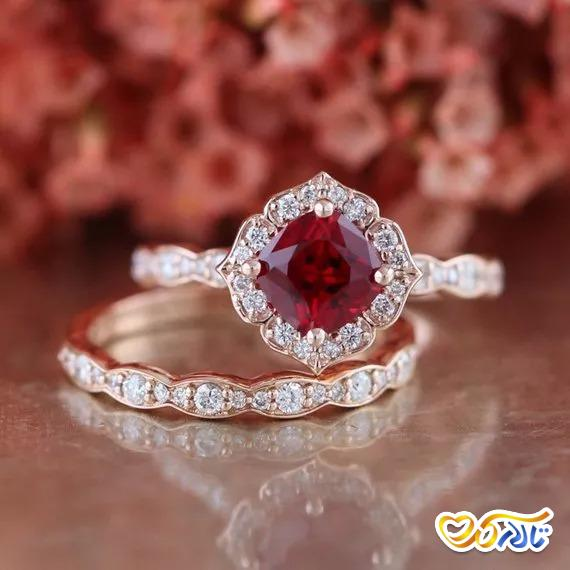 حلقه ی عروسی جواهر