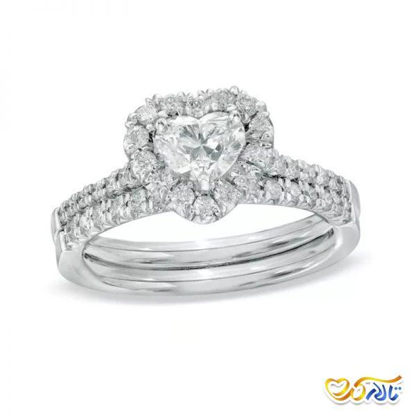 حلقه قلبی عروسی نامزدی قلبی شکل