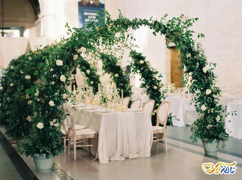 گل کاملیا در تزئینات جشن عروسی
