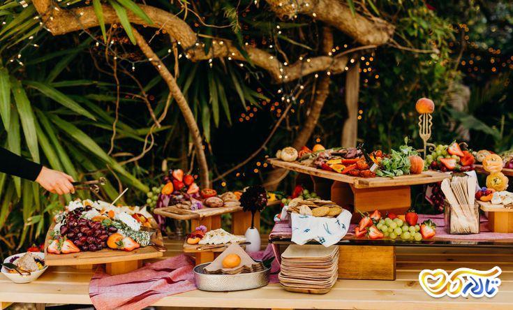 انتخاب منوی غذای عروسی : پذیرایی به صورت بوفه