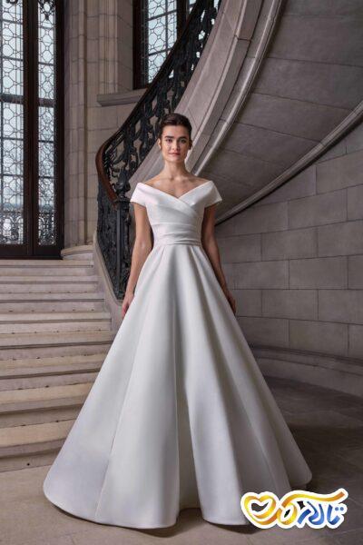 مدل لباس عروس پارچه حریر ساده
