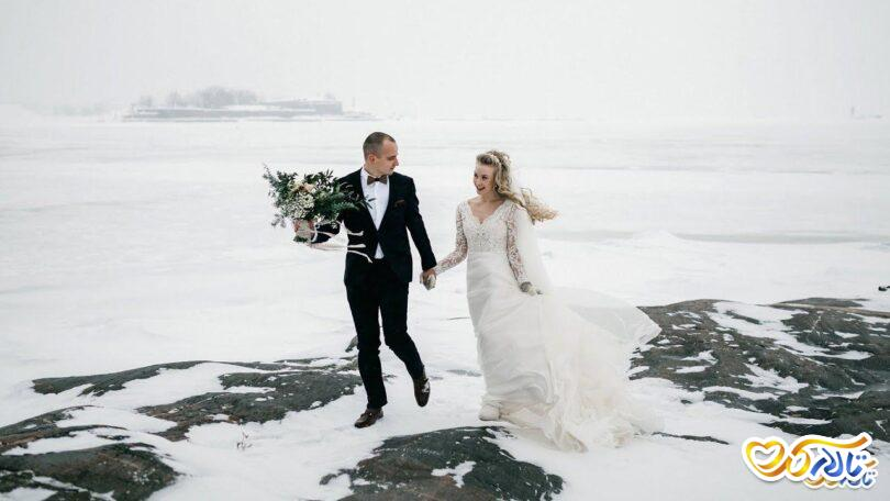 ایده برفی عروس داماد
