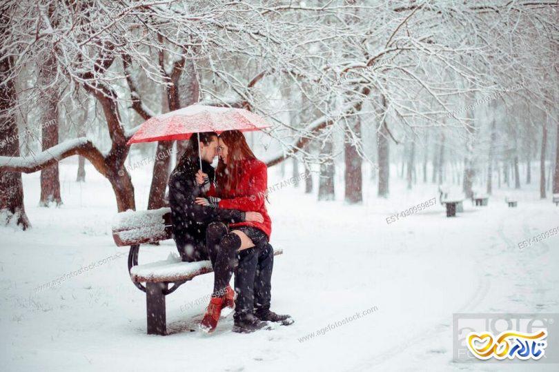 عکس اسپرت برف عاشقانه زمستان