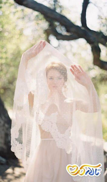 تور عروس حاشیه دانتل