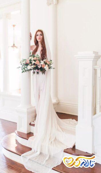 تور عروس در مراسم عروسی
