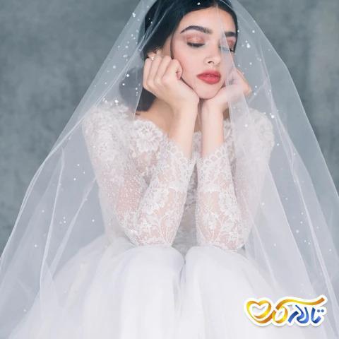 تور عروس مرواریدی